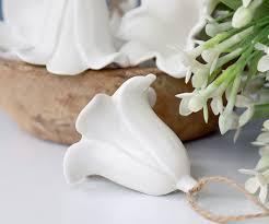 Lily <b>White Porcelain Christmas</b> Tree Decoration