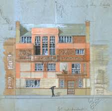vitalism and the meaning of art nouveau   newington cropsey    tite street building  e w  godwin  architect  chelsea  london  courtesy victoria  amp