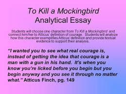 Essay on to kill a mockingbird