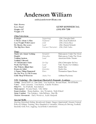theater resume examples sample theater resume student resume audition resume format