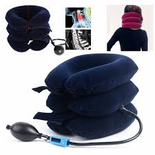 <b>Air Inflatable</b> Pillow <b>Neck</b> Brace Traction Support Device for <b>Neck</b> ...