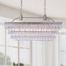 antique silver 6 light rectangular glass droplets chandelier chandelier pendant lighting