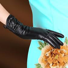 High Quality <b>Autumn</b> Fashion Women Gloves Female <b>Genuine</b> Long ...
