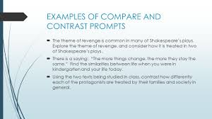 compare and contrast essay writing purpose to reveal examples of compare and contrast prompts 61620 the theme of revenge is common in many of
