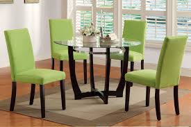 dining table parson chairs interior: pc glass top casual madison dining table apple green parson chairs
