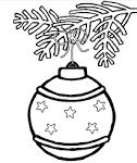 Раскраска новогоднего шарика