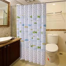 large size design black goldfish bath accessories: multiple size cute cartoon fish design bathroom shower curtains with hooks bathroom accessories bath curtain