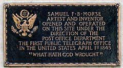 「Samuel Morse's telegraph system is demonstrated for the first time at the Speedwell Iron Works in Morristown, New Jersey」の画像検索結果