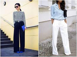 <b>Широкие брюки</b>: как носить в 2019 году