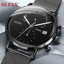 OLEVS relogio masculino watch <b>men Fashion Sport</b> Stainless Steel ...