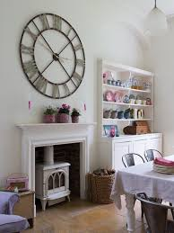 chic large wall decorations living room: large wall clock photos fffaff  w h b p shabby chic style dining room