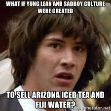 What if Yung Lean and sadboy culture were created To sell Arizona ... via Relatably.com