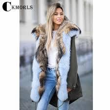 <b>CKMORLS New Fashion</b> Luxury Parkas With <b>Real</b> Fur Collar Thick ...