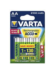 <b>Аккумуляторы VARTA AA</b> R2U 2100 мАч (4 шт) VARTA 8007769 в ...
