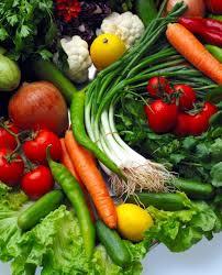 fresh, colorful produce