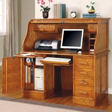 impressive office design implemented with light brown colored solid oak desks for home office completed with several small drawers and flowers decoration amazing impressive custom deluxe office furniture