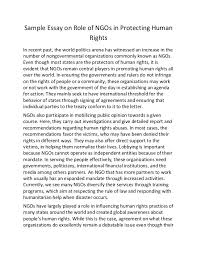 sample essay on role of ng os in protecting human rightssample essay on role of ngos in protecting human rights in recent past