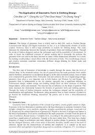 The Application of <b>Geometric</b> Form in <b>Clothing</b> Design | Scientific.Net