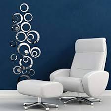 Wall Sticker, Flyfox® Circles Mirror Style <b>Removable</b> Decal <b>Vinyl Art</b> ...