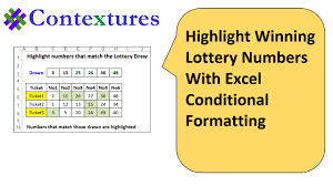 highlight winning lottery numbers excel conditional highlight winning lottery numbers excel conditional formatting