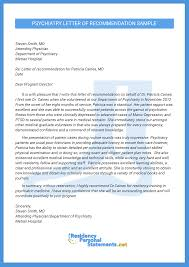 psychiatry residency letter of recommendation sample residency check our psychiatry residency letter of recommendation sample