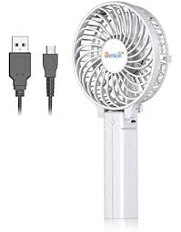portable mini fan wireless charge carton usb desk stand rechargeable four color 5v outdoor travel handheld fans