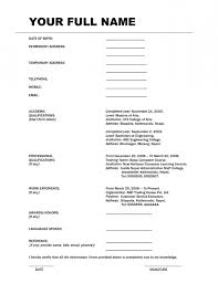 Simple Bio Data For A Job | Resume Template Example ... Bio Data For A Job Roludvrlistscom job resume