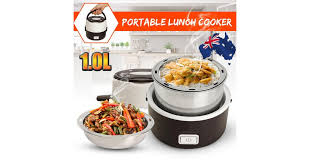 <b>Portable Electric Lunch</b> Box 2 Layer Steamer <b>Cooker</b> Pot Can ...