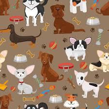 Free Vector | Cute funny dogs seamless <b>pattern</b> illustration. <b>cartoon</b> ...