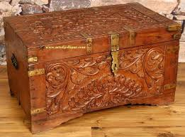 solid mango wood carved trunk box used cot for sale in adugodi bangalore clickin carved solid mango wood