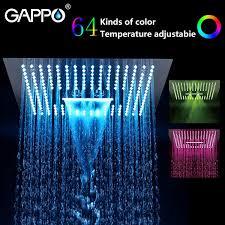 2019 <b>GAPPO Bathroom Shower</b> Head Water Powered Led Rainfall ...