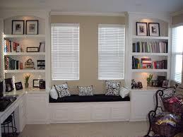 built in bookshelves built home office