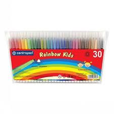 КАНЦ Набор <b>фломастеров RAINBOW KIDS</b>, 30 цв. (<b>CENTROPEN</b> ...