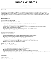 carpenter resume sample resumelift com