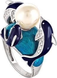 Серебряное <b>кольцо</b> ''<b>Дельфины</b>'' Kabarovsky 11-018-1507 с ...