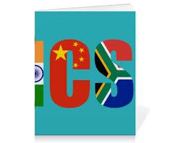 """Тетрадь на скрепке """"BRICS - БРИКС"""" #2368680 от trend - <b>Printio</b>"""