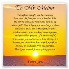 mothers birthday poems from daughter | In praise of mother who ... via Relatably.com