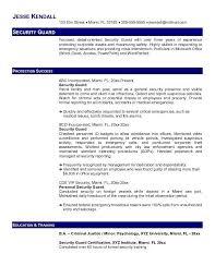 sample security guard resume it guard free security guard sample resume