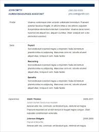 basic resume template –    free samples  examples  format    basic resume template for hr assistant  free download