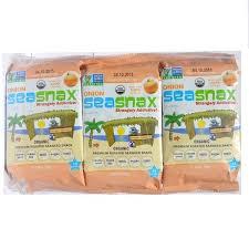 SeaSnax, Grab & Go, Organic Premium <b>Roasted Seaweed</b> Snack ...
