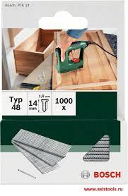 Купить <b>гвоздь</b> для степлера т48, набор 1000 <b>гвоздей 14 мм</b> DIY ...