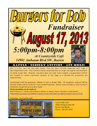 reminder burgers for bob fundraiser will be this saturday aug burgersforbob bbq flyer 1