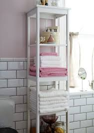 bathroom storage narrow tall shelving unit