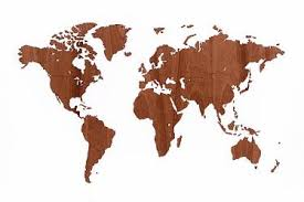 <b>Деревянная карта мира World</b> Map Wall Decoration Exclusive ...