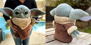 This <b>Extra Large Crocheted</b> Baby Yoda Looks Amazing!