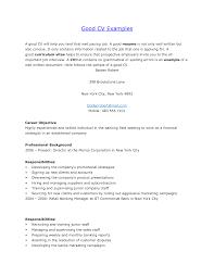 resume  examples of good resume  decos usresume examples