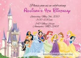 birthday invitation disney princesses birthday invitations new disney princess birthday invitation template