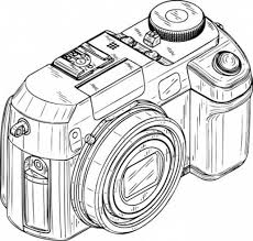 Small Picture Digital Camera in Photography Coloring Page Coloring Sky