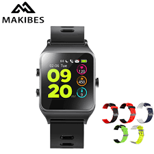 Makibes BR3 Smart Watch Android iOS IP68 Waterproof Heart Rate ...