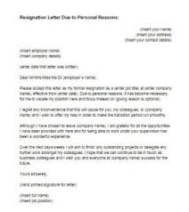 resignation letter due to personal reasons sample  just letter  letter of resignation personal reasons